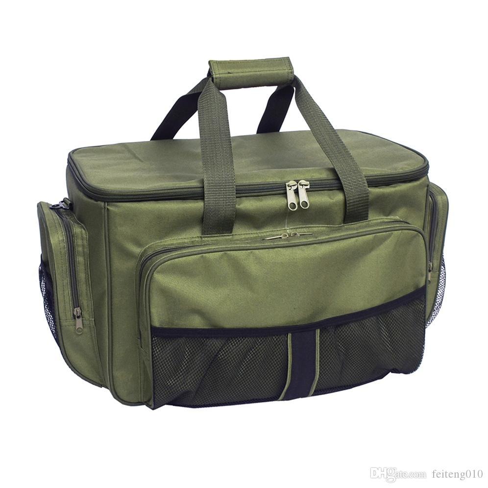 Lixada Fishing Reel Lure Bag Insulated Lunch Box 600D oxford fabric Fishing Tackle Bag Case for Carp Pesca Hunting Hiking Picnic #510568
