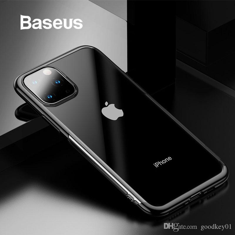 للحصول على 11 برو ماكس Baseus براق حالة المغطاة بالكامل الغلاف حماية آيفون 11 الهاتف كابا كوكه العودة الهاتف حالة تغطية