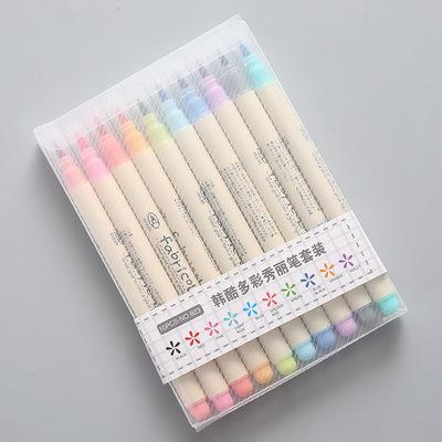 2019 2019 Futurecolor Write Brush Pen Colored Marker Pens Set For Calligraphy Drawing Gift Korean Stationery Art Supplies From Dh Home Garden 6 74