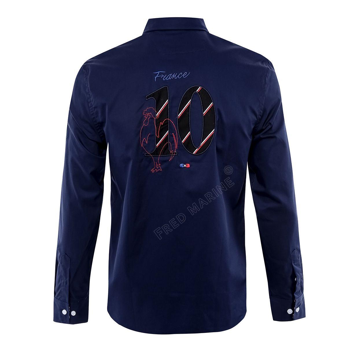 Eden park 2019 Leisure Pure Cotton in cotone girocollo Camicia blu For Foreign Number Number t-shirt henley camicia da uomo d'affari