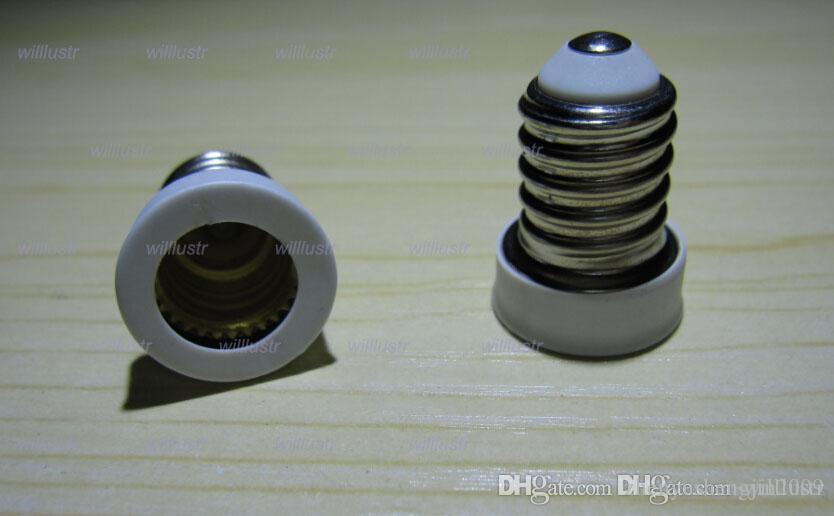 100pcs/lot E14 to E12 lamp base Adapter Converter bulb adaptor Led Halogen CFL light bulb lamp