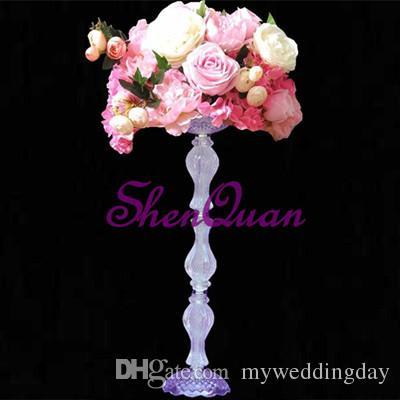 20pcs / lot, 67 cm de hauteur acrylique route de mariage en cristal conduire mariage pièce maîtresse événement mariage décoration / décoration de fête pour table