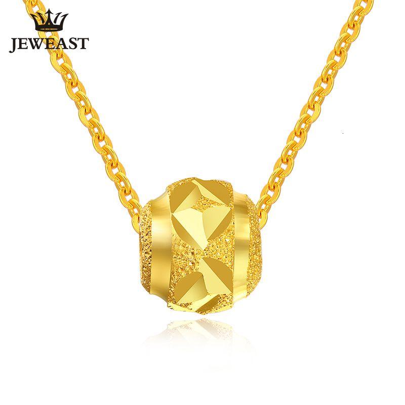 Pure Gold Pendant real Au 999 Charme Solid Gold agradável Sorte Beads Upscale Partido clássico na moda xxx 24k Fine Jewelry Hot Venda Nova Y19052301