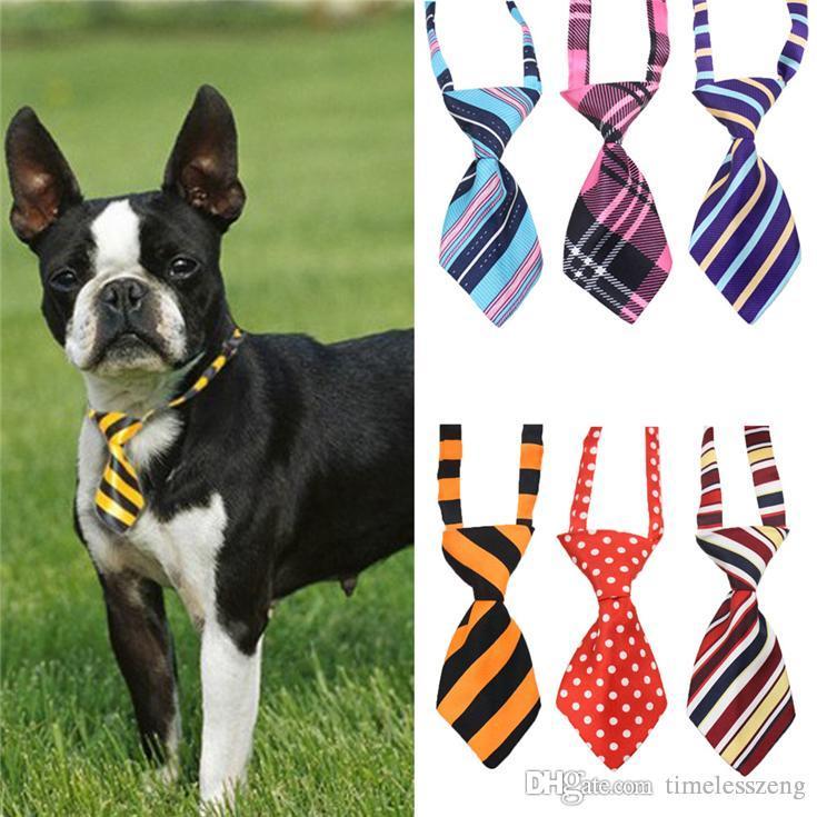 seda de poliéster perro mascota lazo corbata tocado agradable ddjustable suministros lazo del gato corbata de lazo del animal doméstico del envío gratis 27 Color