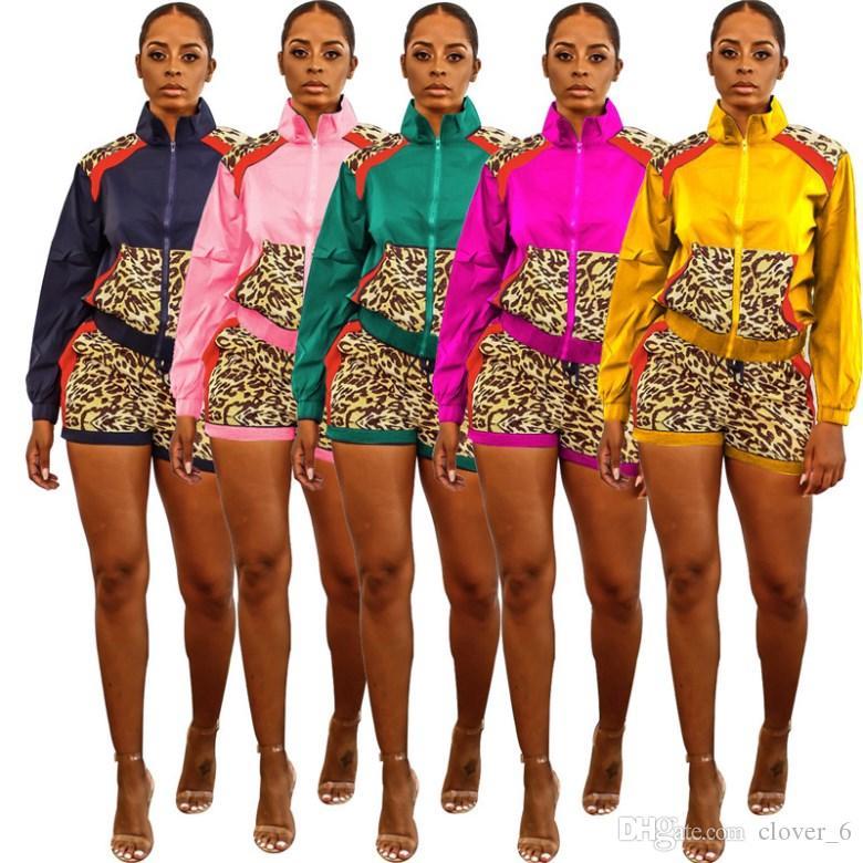 Womens duas peças set roupas de manga longa Treino Sportswear calções casaco Jogging casuais Suits sexy de venda mulheres quentes roupas klw2523