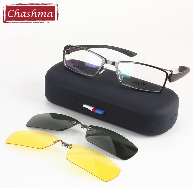 Оптово Мужские очки вождения близорукость кадров Top День качества и ночные поляризованные очки Очки для Frames