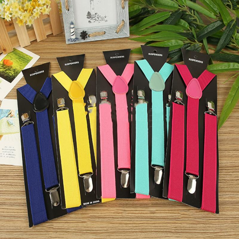 """42 colors Adult women and Mens suspenders X-Back 1"""" Wide Adjustable Solid Straight Clip Suspenders For Trousers accessories BJJ190"""