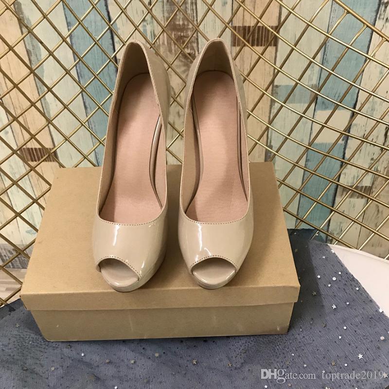 Классические женские красные нижние туфли на высоком каблуке Роскошная леди бежевый черный лакированная кожа туфли на высоком каблуке мода сексуальное платье свадебная обувь