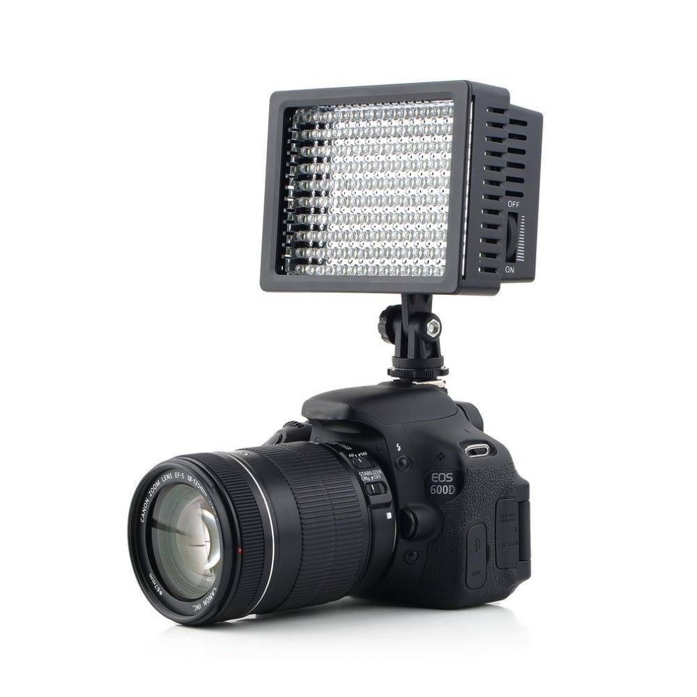 Freeshipping 160 levou estúdio de luz de vídeo para canon para nikon camera dv camcorder estúdio de fotografia profissional de alta qualidade