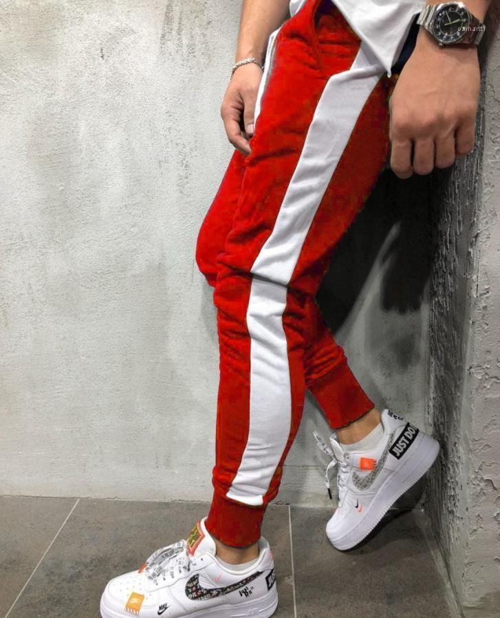 Günlük Spor Sweatpants İlkbahar Sonbahar Moda Kalem Pants Hombres Pantalones Erkek