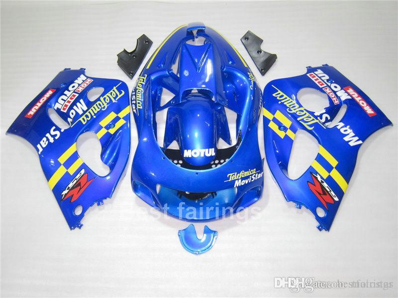 ZXMOTOR Fairing kit for SUZUKI GSXR600 GSXR750 SRAD 1996-2000 blue yellow GSXR 600 750 96 97 98 99 00 fairings FG47