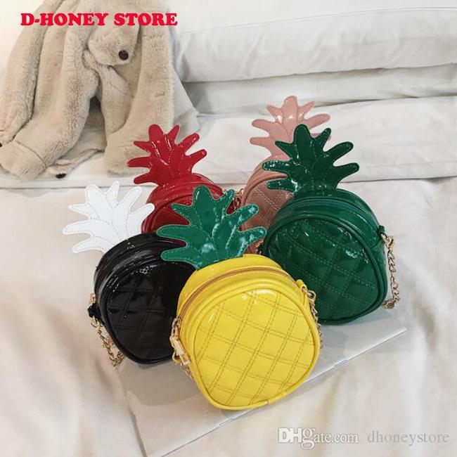 Новый 2019 дети кошелек сцепления сумочка милые девушки фрукты ананас сумка детские сумка дети кошельки и сумки
