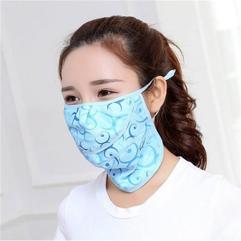 Ventilazione maschera per adulti di stampa del punto dell'onda della respirazione con la bocca viso respiratori Maschera Estate solare lavabile Barriera 2 4gy UU