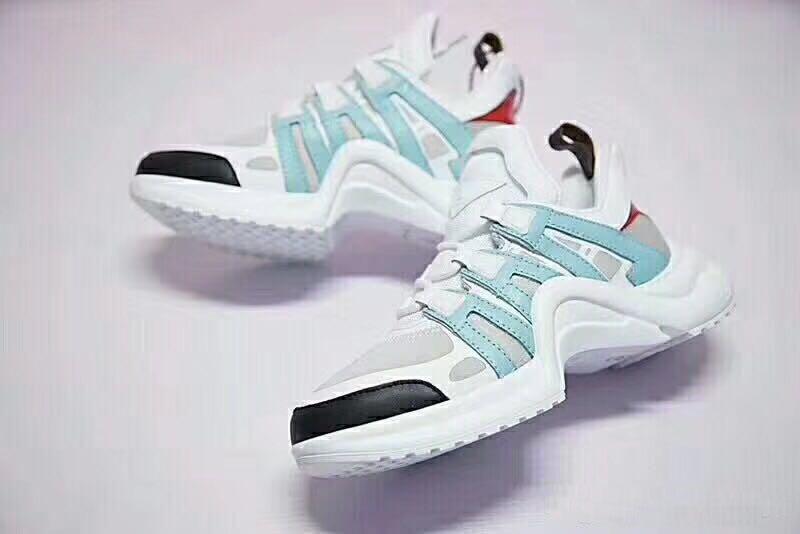 Heißer Verkaufs-Basket Archlight Turnschuhe Chaussures Silber Silber Archlight weiße Monogramm-Spitze-Logo Flach Trainer Sneaker Freizeitschuhe