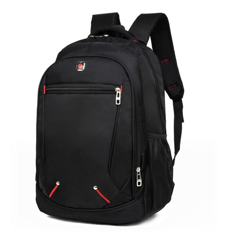 عارضة بلون المواد أكسفورد الرجل على ظهره حقيبة الطالب المدرسية متعددة الوظائف ذات سعة كبيرة حقيبة بسيطة