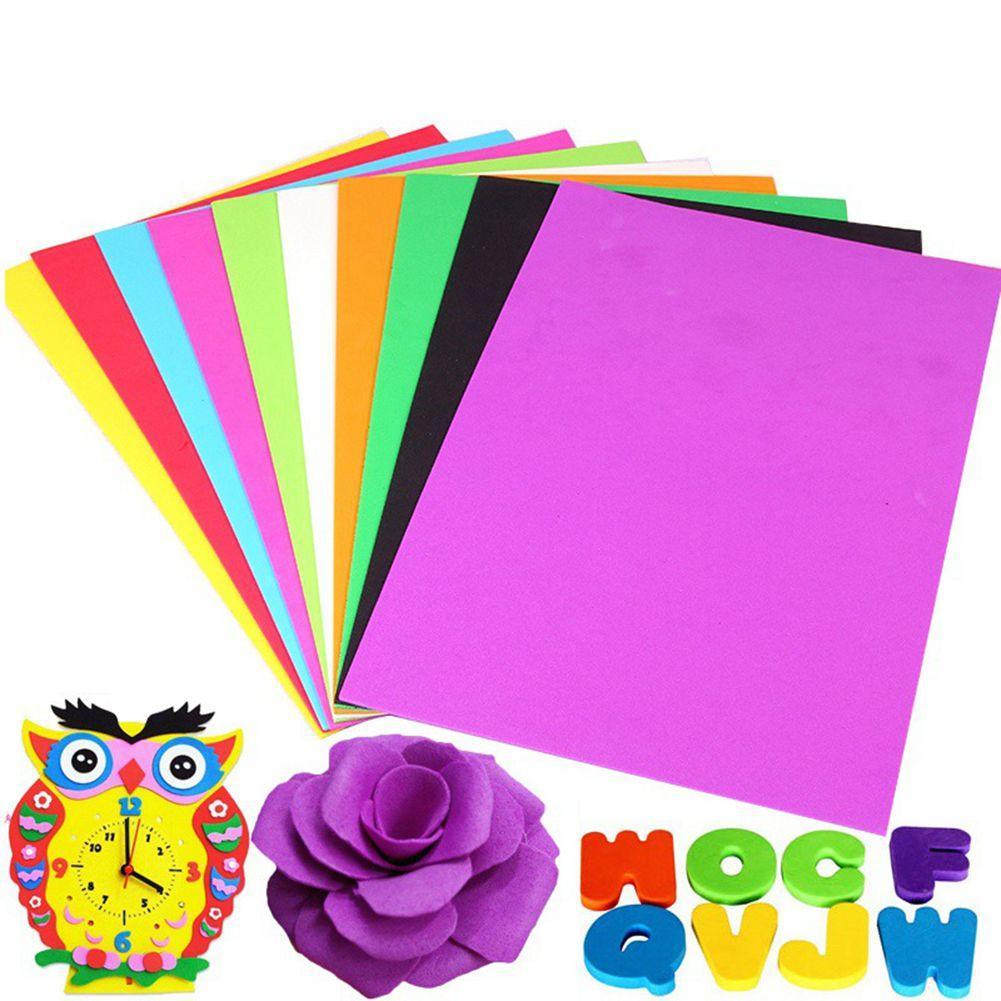 1mm d'épaisseur en mousse de papier Lotus 50 * 50cm EVA cosplay feuille de mousse 24 couleurs disponibles papier éponge bricolage EVA Papiers Artesanat mousse à vendre