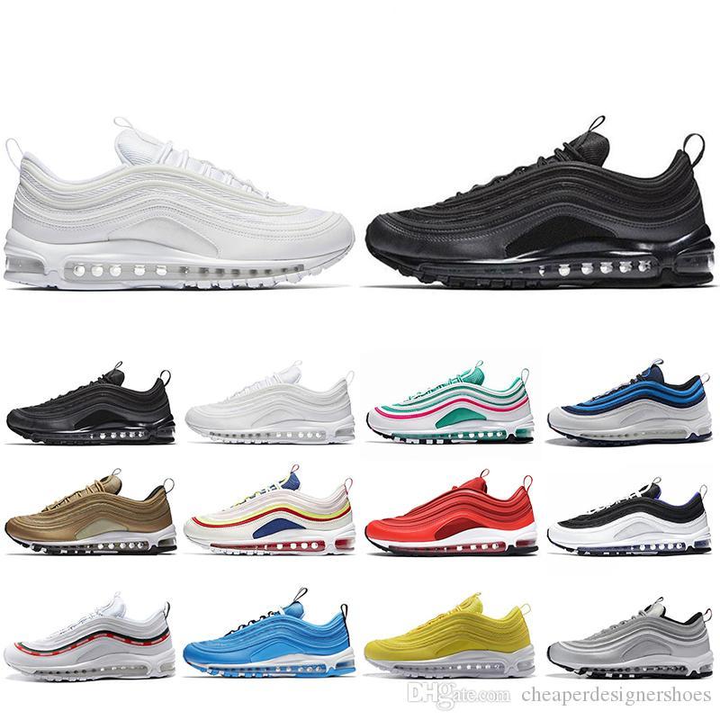 Más barato zapatillas deportivas nuevas para los hombres Las mujeres SH Kaleidoscope SEUL Londres Verano de amor mostaza SE Mens formadores Diseñador Sport zapatillas de deporte 36-45