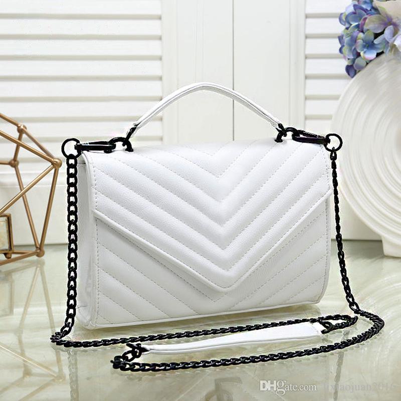 Envío gratis 2021 Nuevos bolsos a rayas Pequeñas bolsas de altas carteras EUROPEO Cadena Hermosa mujer de calidad Bolsa de hombro Hlaei