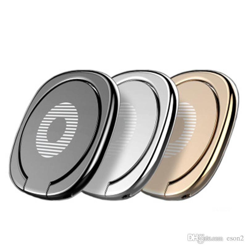 360 Degree metal Dedo anel titular Smartphone Móvel Dedo Phone Holder suporte para Samsung S8 S9with opp Package