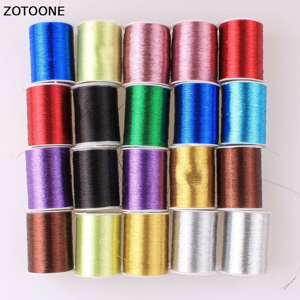 Zotoone 20Pcs / Lot colorido hilo de nylon bordado de máquina de coser Hilos de coser de la mano del arte del remiendo del volante fuentes de costura jNaaH