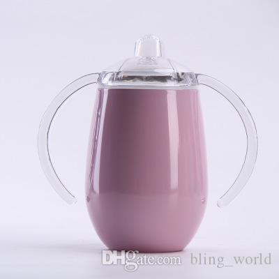 Яичные кружки двойные ручки чашки из нержавеющей стали питьевая чашка с крышкой бокал для вина детские стаканы бутылка воды вино кофе кружка YFA423