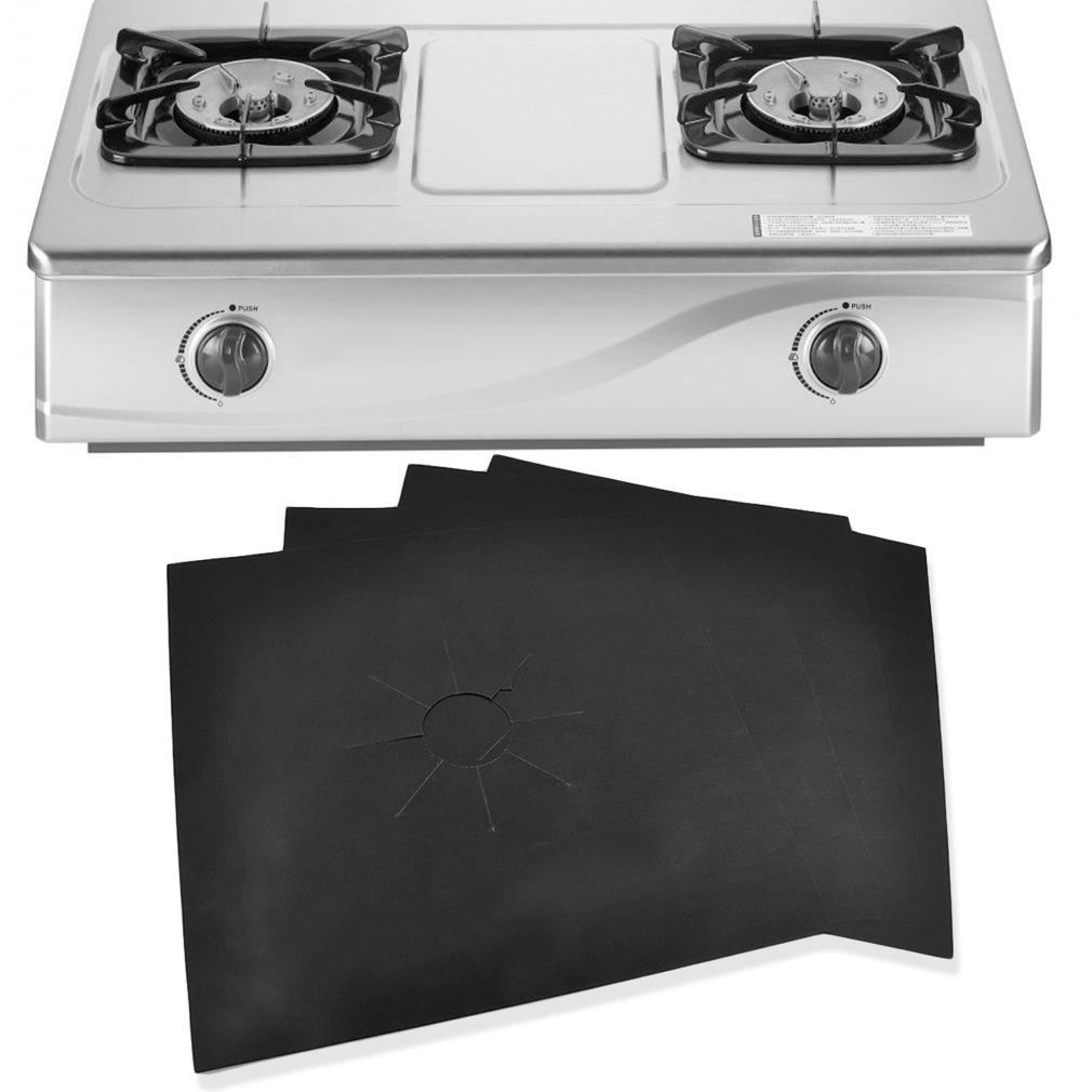 4pcs / Set 27 * 27cm Yeniden kullanılabilir Gaz Kapak Soba Brülör Mat Sıcaklık Yağ Koruyucu Tampon Liner Temizleme Mutfak Araçları Anti-kirlenme