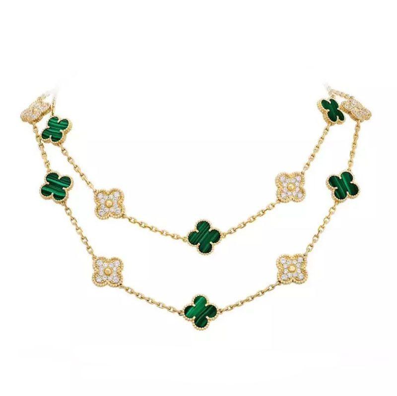 Trébol collar S925 chapado en cadena de oro rosa de 18 quilates Moda Baitao clavícula