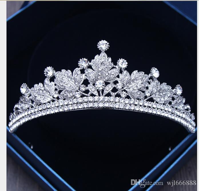 Accesorios de boda coreanos accesorios de vestido de boda Diamante de cristal Princesa Corona de cumpleaños