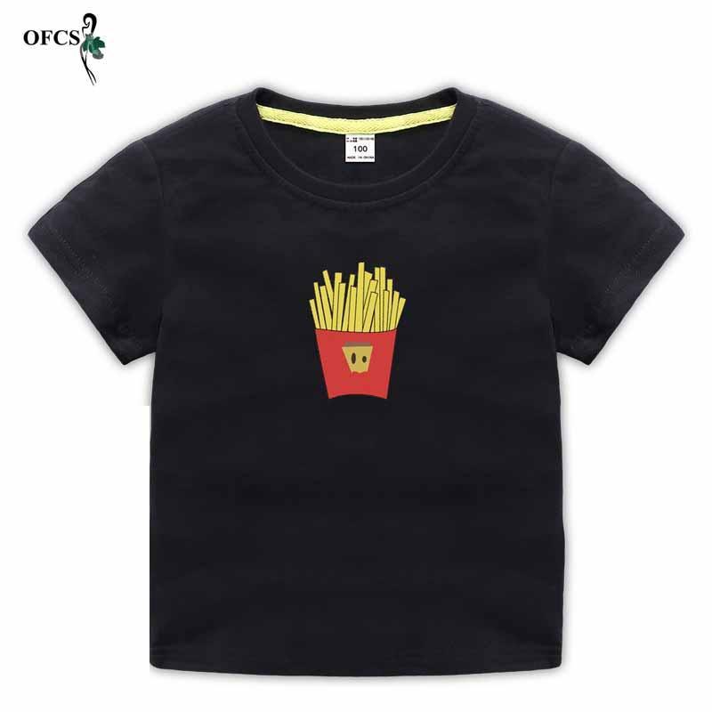 Дети летом пляж футболку девушка красивая конфеты цветной печати куртка мальчик милый случайный и удобный свитер 2-12 T
