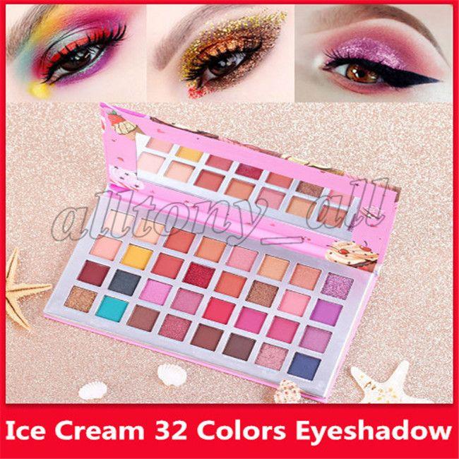 Горячая Роза Водонепроницаемый Палитра теней для макияжа 32 цветов Silky Eye Shadow Matte Shimmer Eye Shadow Ice Cream Earth Color Eyeshadow