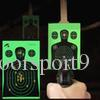 "Target Shooting 12""x18"" Silhouette Splatter Reactiveb Target Paper Targets Fluorescent Green for Gun or Archery Shooting"