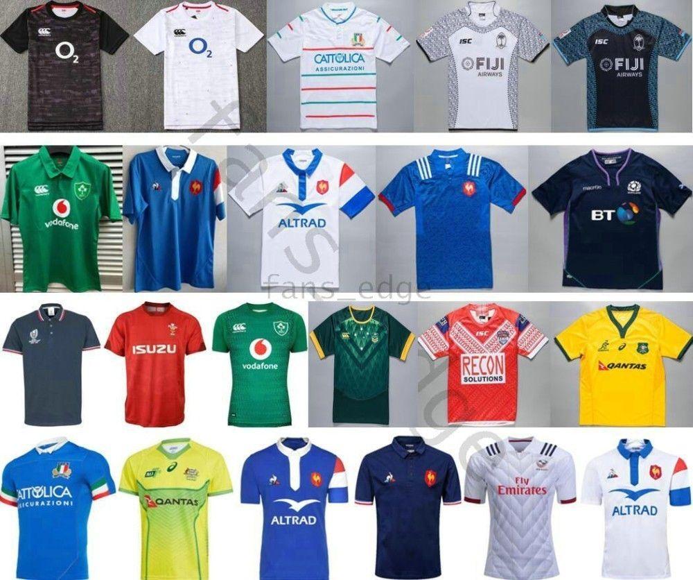 2019 Weltmeisterschaft Nationalmannschaft Rugby Trikots Mate Tonga Irfu Italien Fiji Australien French Kiwis Samoa Italia Scotland Liga Rugby T-Shirt