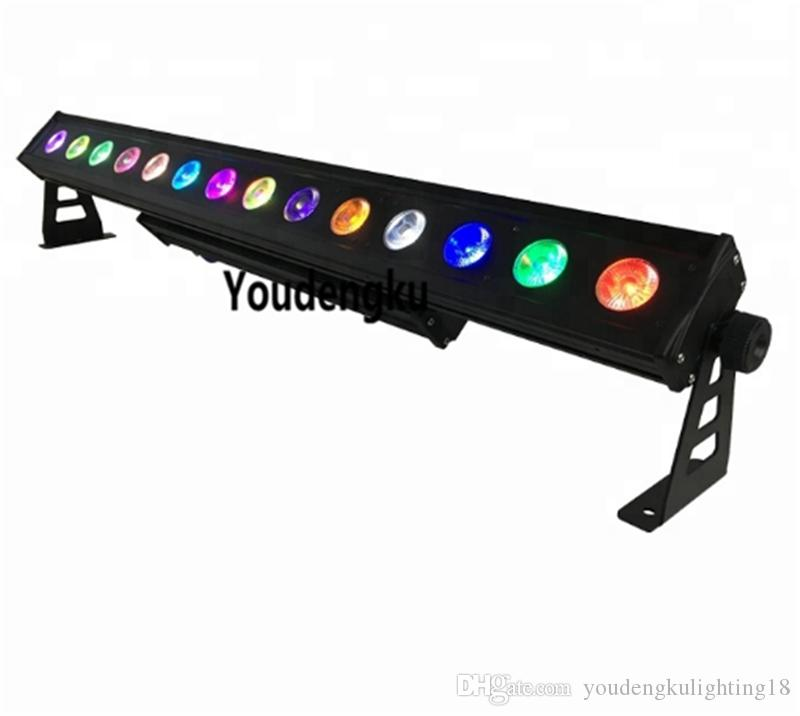 4 Stück Line-Array-Wandunterlegscheibe IP65 LED-Streifen 14 bar * 10W Außen 10W RGBW 4 in 1 führte Wandunterlegscheibenlicht bar