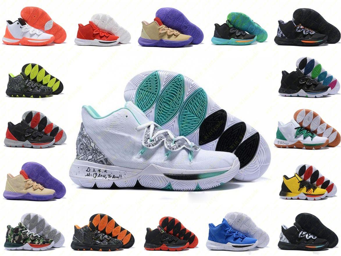Mens KII 5 V Misturas de Neon Ikhet Taco BHM CNY Black Magic tênis de basquete 5S Sapatilhas Sapatos Esportivos Formadores Sapatos de Basquete Nike Irving tamanho 40-46