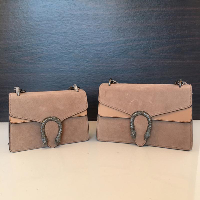Designer- sonbahar / kış kadın bağbozumu çanta çantası nubuk patchwork napa deri Steller toka zincir omuz çantası kadın çantaları