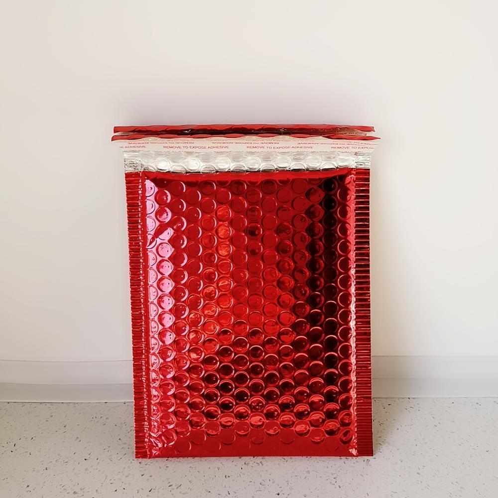 50 PC / porción Red Envelope espuma Bolsa especificaciones diferentes anuncios publicitarios sobre completado con la burbuja de correo bolsa caliente de la venta