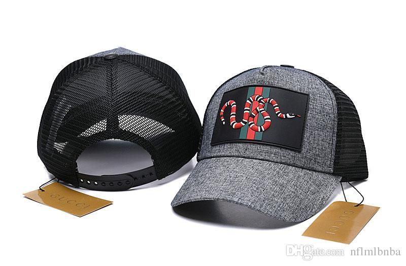 2019 أعلى جودة تصميم المشاهير رسالة الأفعى القبعات كاب الكرة قبعات الرجال امرأة الأغطية بخيل بريم القبعات أقنعة 527075 3HD87 4260 002