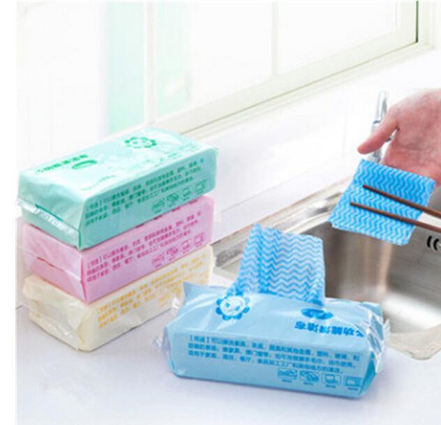 يمكن التخلص منها تنظيف الملابس البيئة غسل فوط الصحن ماجيك مطبخ غير عصا النفط المسح الخرق منشفة حقيبة 4 حزمة