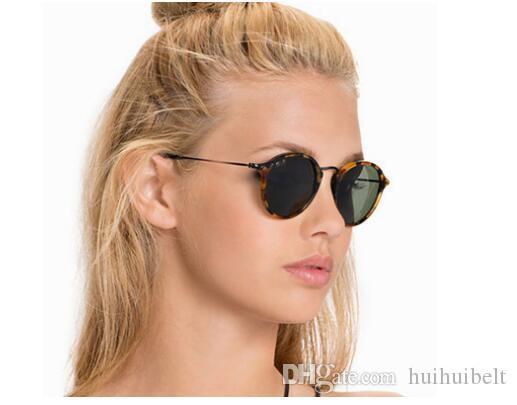 2019 yeni 2447 Metal yuvarlak yüz Retro sürücü güneş gözlüğü kadın ve erkek evrensel kişilik güneş gözlüğü güneş gözlüğü