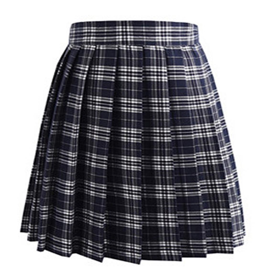 Check Pattern Uniform Cosplay Pleat Plaid Skirts Fashion Mini Homecoming Skirt A Line JK01 Party Cocktail Dress Knee Length Girls Dresses