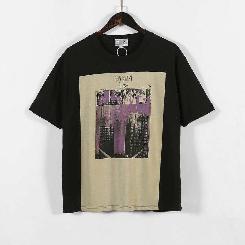 2020SS CAV استباق C.E طويل صندوق تيز الرجال النساء الأزواج المتضخم T قميص الخيالة استباق القطن تي شيرت للرجال