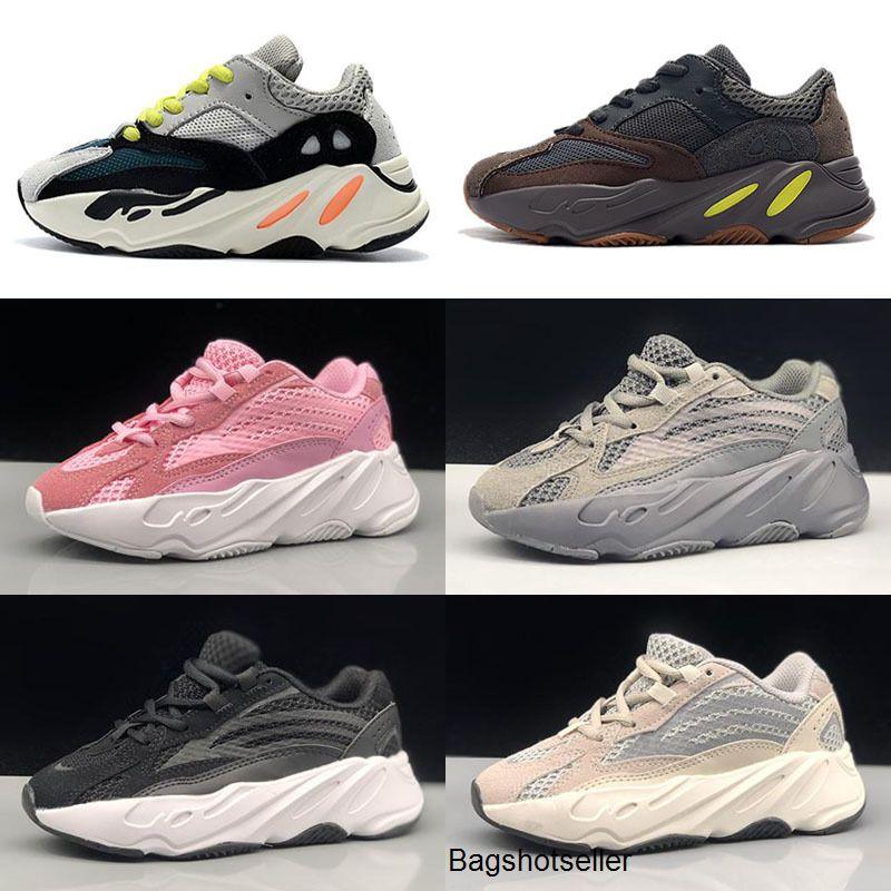 Neue Kinder Laufschuhe Kanye West Wave Runner 700 Jugend Sply 700 Sport Turnschuhe Kinder-Basketball-Schuh-beiläufige Kleinkind-Schuhgröße 28-35