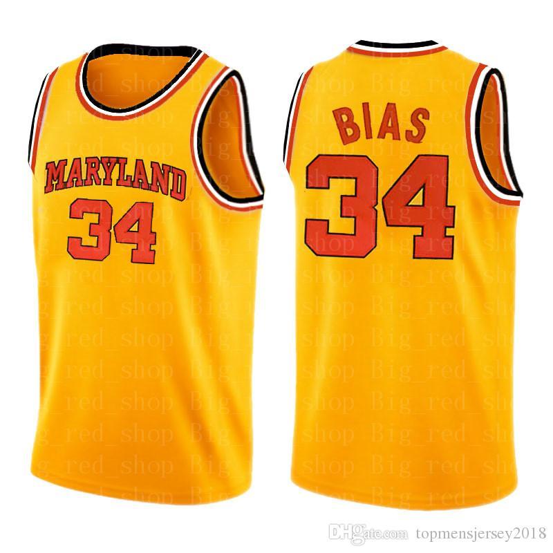 NCAA jersey Len 34 Viés Mens Universidade ensino médio Basketball Jerseys bordado Logos S-XXL