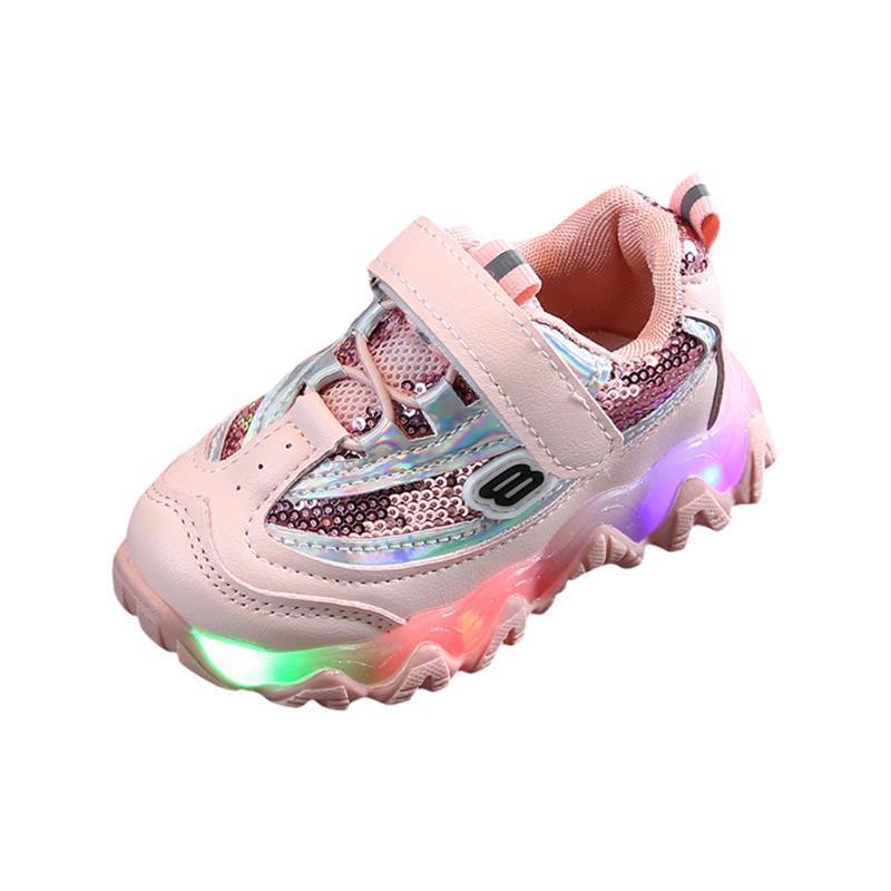 Children Light Shoes Luminous Unisex Casual Sport Running Bling Led Light Luminous Sport Sneakers for Boys Girls Kids