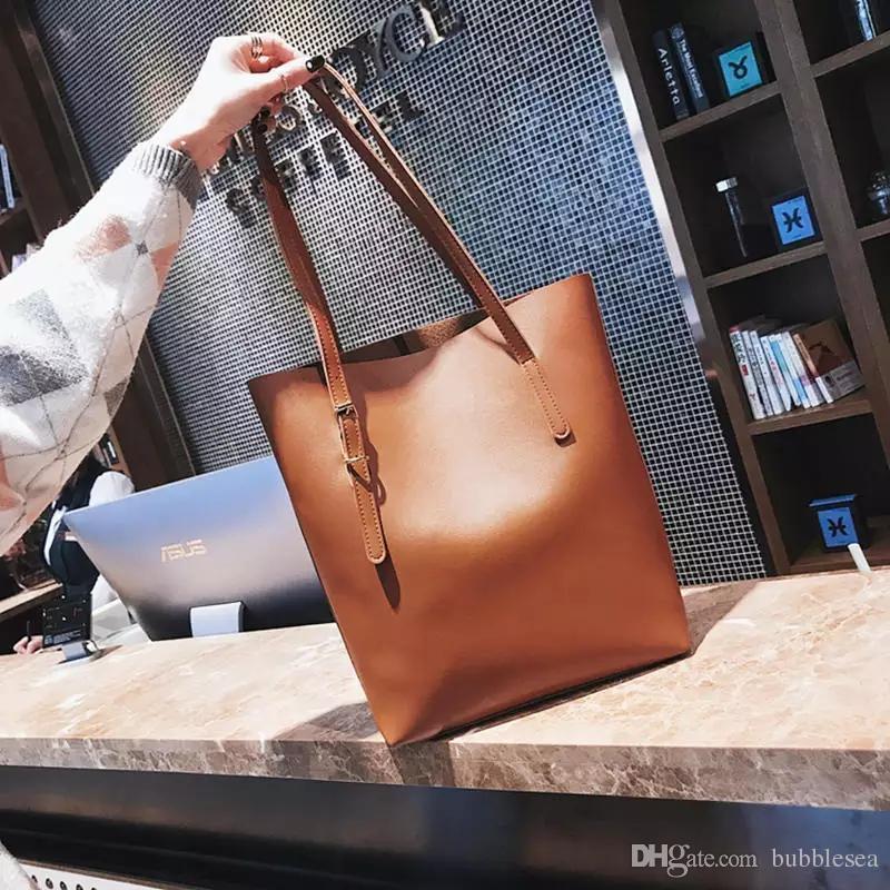 Crazy2019 Large Bag Female Pop Soft Pitot Bag Students Wild Simple Large-capacity Shoulder Bag Tide Free Shipping