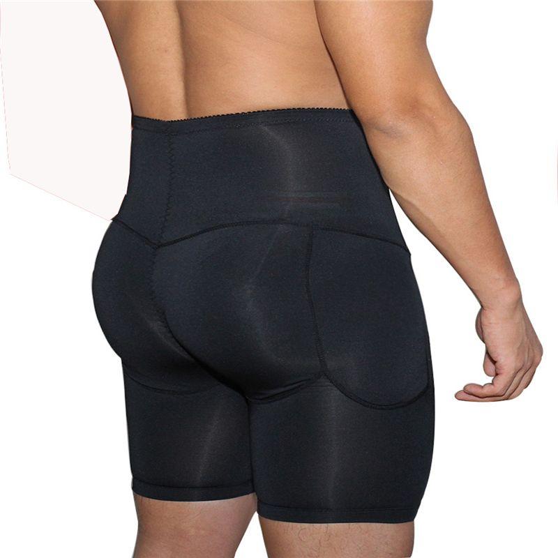 Yüksek Popo Bel Vücut Şekillendirici Erkekler Artı Boyutu Shaperwear Ganimet Kaldırıcı Karın Kontrol Külot Ile Erkek Slim Fit Yastıklı Butt Artırıcı