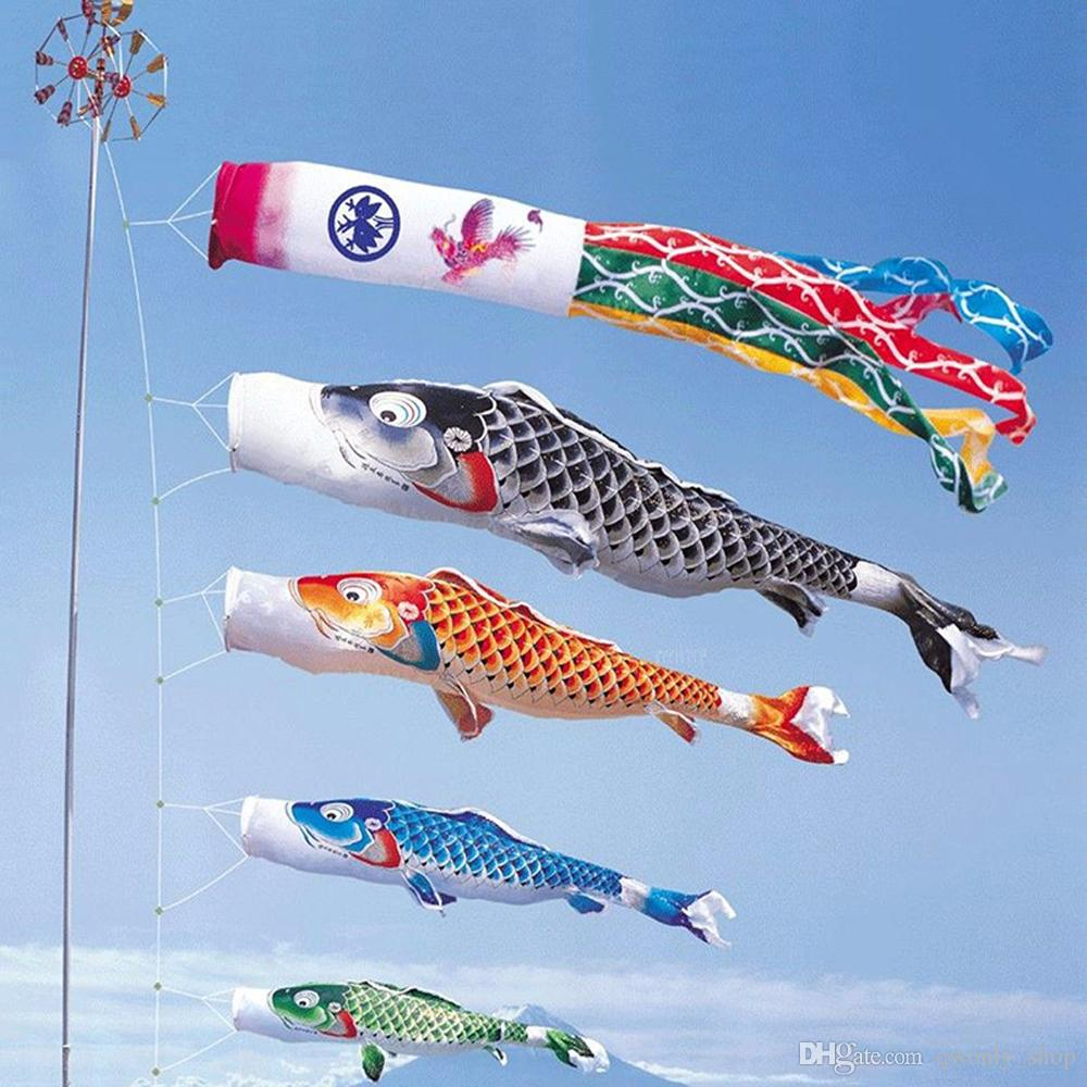Blue Japanese Carp Koinobori Windsocks 100cm 1 piece