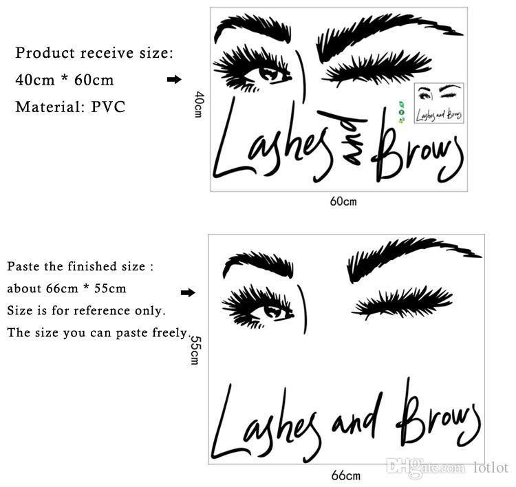 Sexy Long Eyelashes Wall Sticker Art