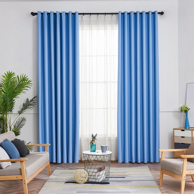 거실 침실 홈 장식 블라인드 패널 커튼 커튼을 완료 창 커튼 현대 정전 커튼