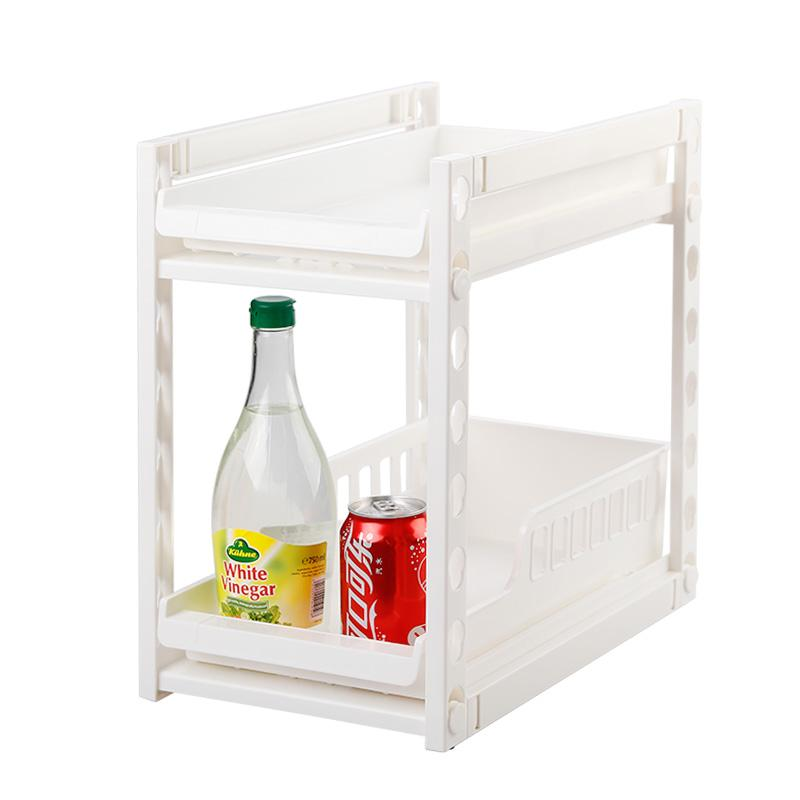 Smoked Pull Type Ambry Receive Frame Two Layers Of Depth Adjustable Shelf In The Kitchen